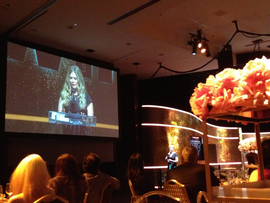 Jennifer Lee at the Women in Film Crystal Lucy Awards 2014