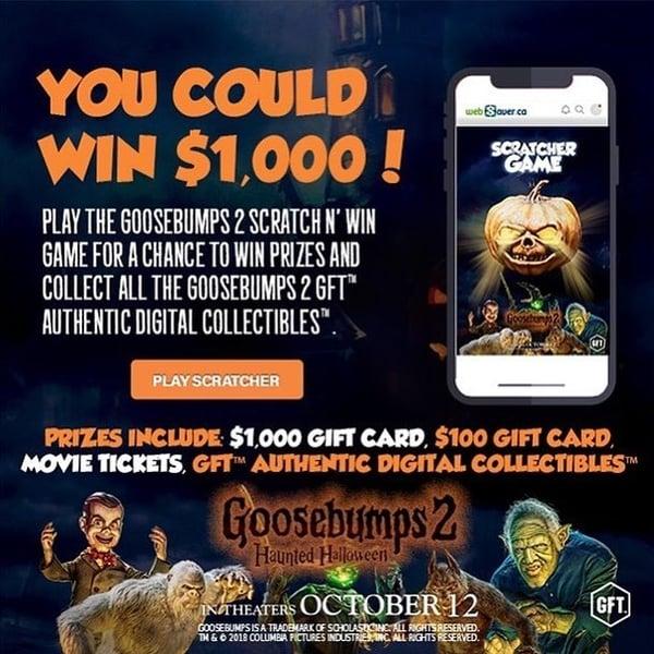 Goosebumps 2- Scratcher Game