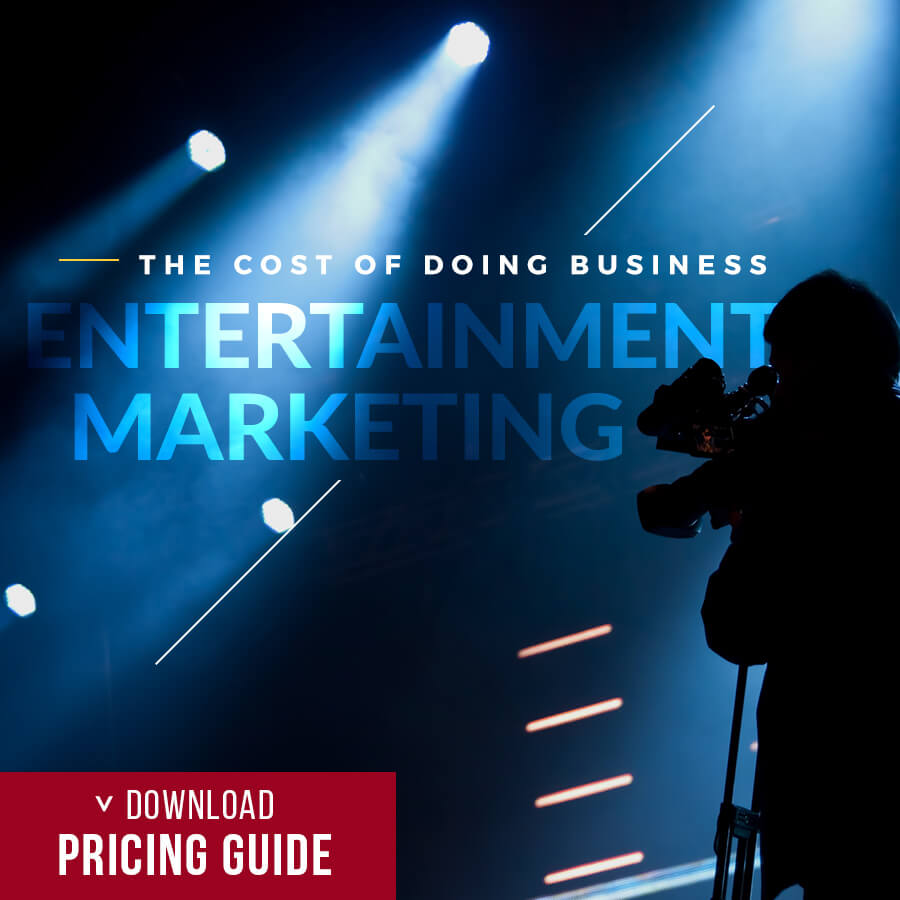 the cost of doing entertainment marketing