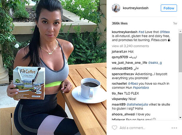 sexy fit coffee endorser