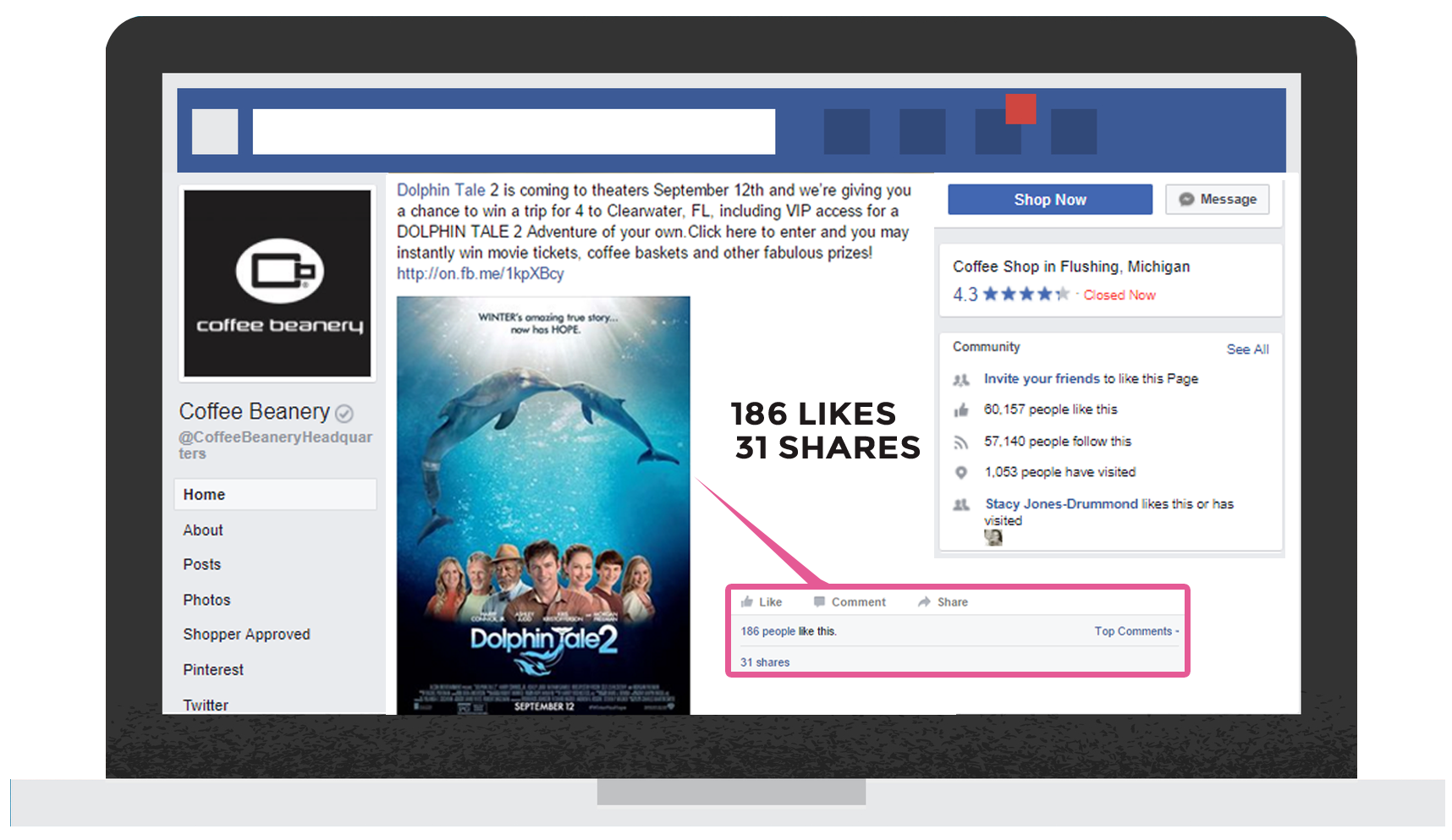 case study - successful event marketing campaign at facebook - coffee beanery.png