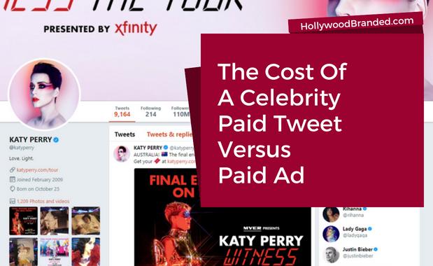 Cost of Celebrity Paid Tweet Versus Paid Ad