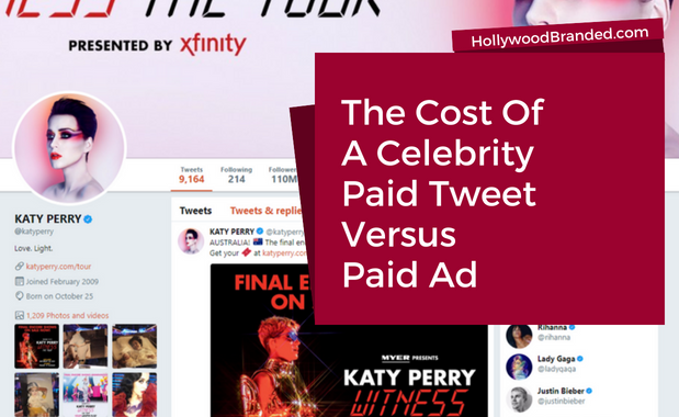 Cost of Celebrity Paid Tweet Versus Paid Ad