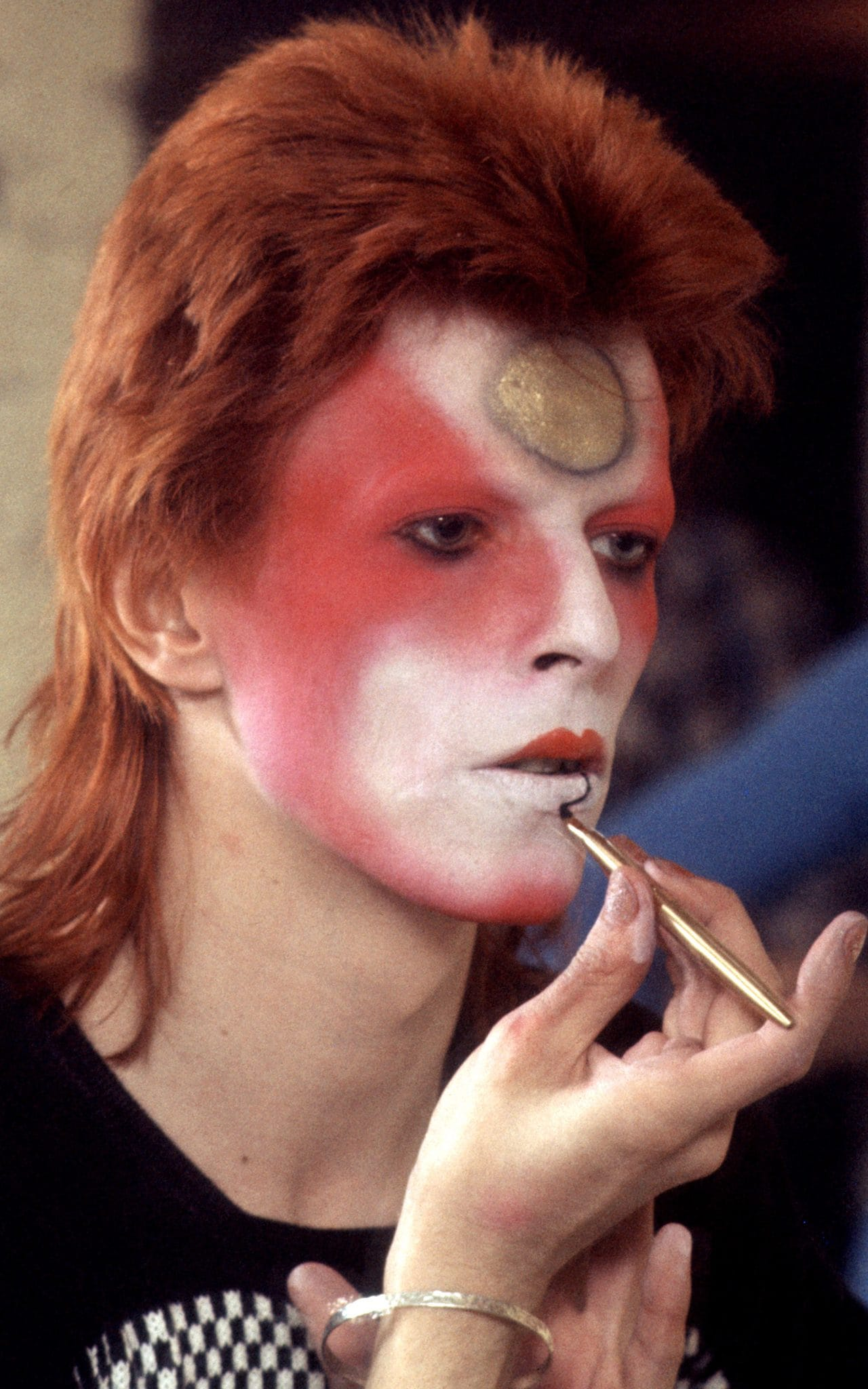 David Bowie, Boy George, Prince, Steven Tyler, Kiss, Mick Jagger, Iggy Pop, Ozzy Osbourne, makeup, stage makeup, rock & roll, punk fashion