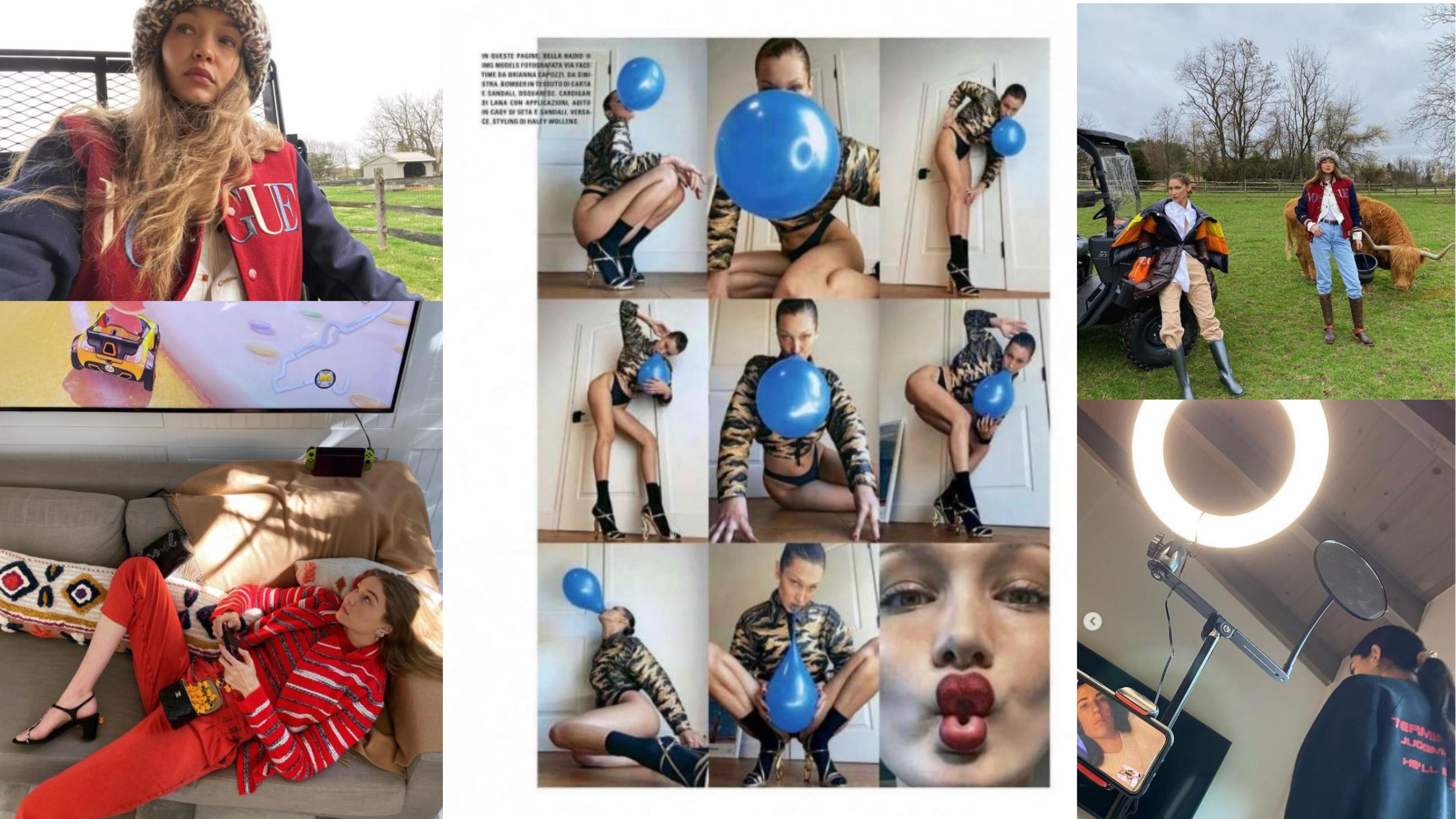 celebrity endorsements, covid-19, social media campaigns, celebrities, marketing, gigi hadid, bella hadid, vogue, vogue italia, photoshoot