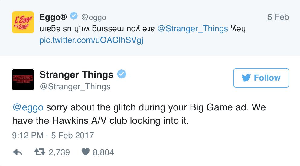 Eggo and stranger things tweet 2.png