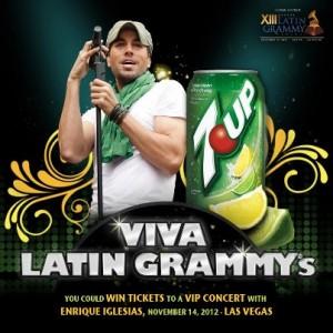 Enrique Igelsias 7UP Latin Grammys partnership