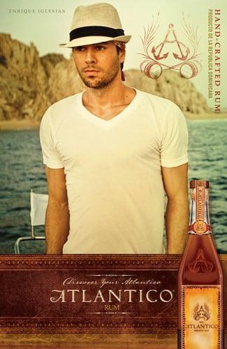 Enrique Iglesias Atlantico Rum partnership