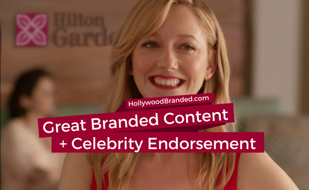 Great branded content and celebrity endorsement Hilton