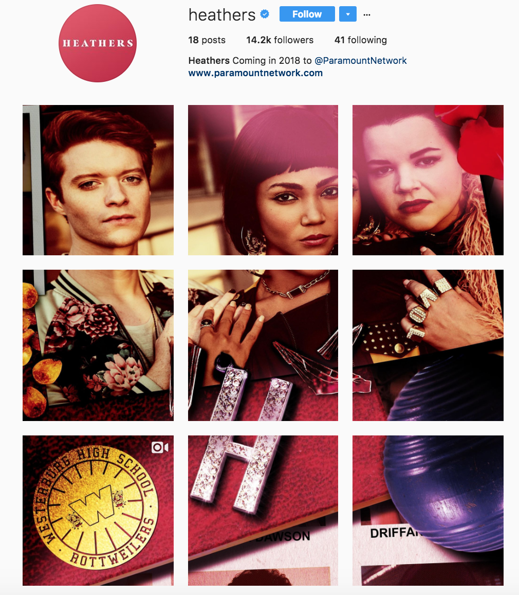 Heathers paramount network instagram promo.png