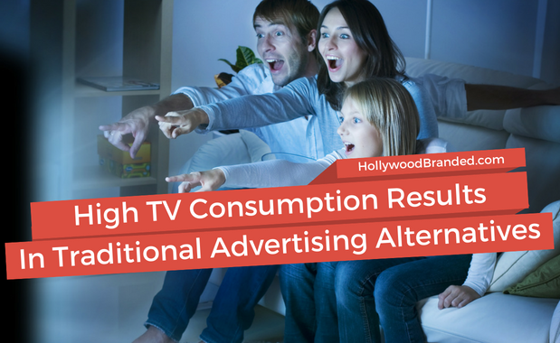 High TV Consumption Results In Traditional Advertising Alternatives