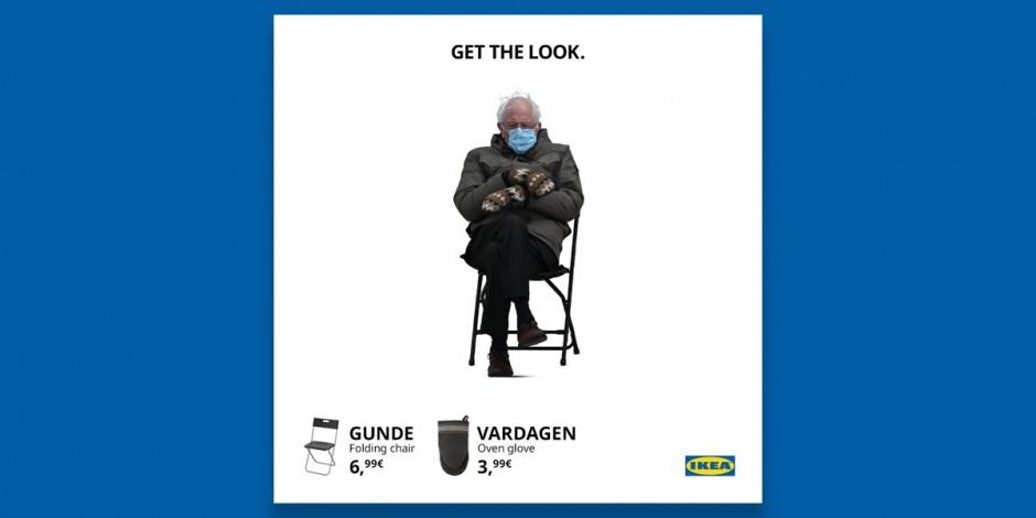 Ikea bernie meme