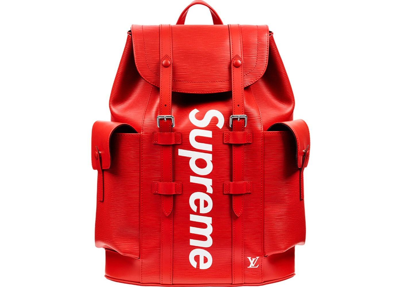 Louis-Vuitton-Christopher-Backpack-Epi-Supreme-PM-Red