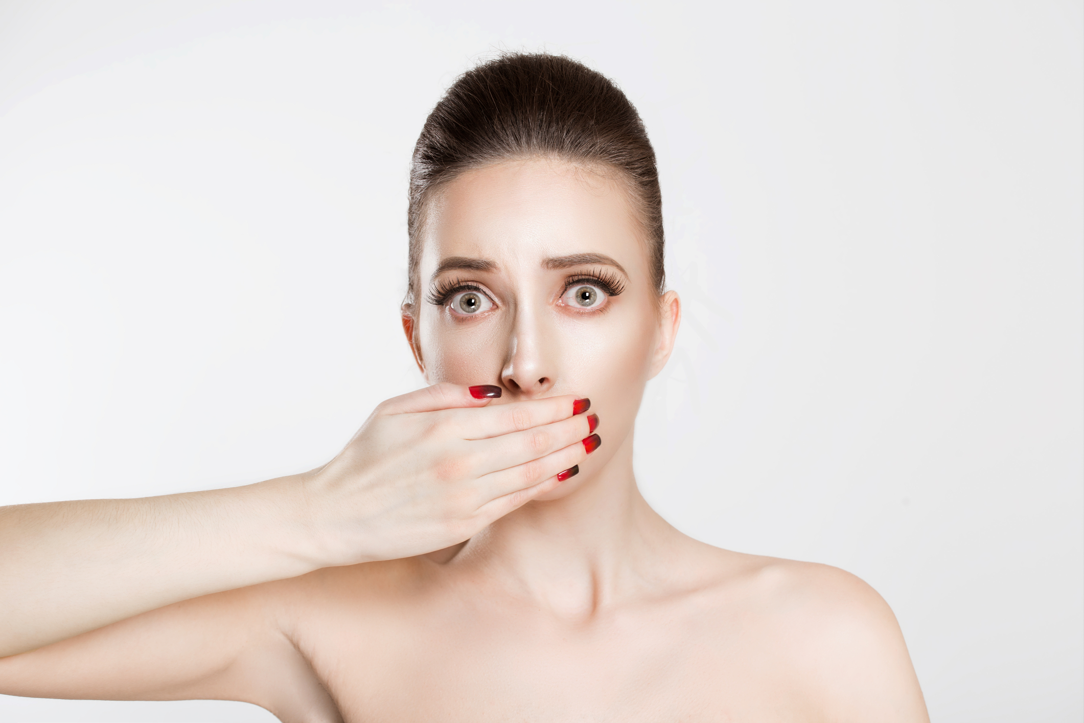 No talking by actors getting makeup and hair or styled due to Covid-19 dangers