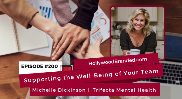 Podcast interview with Michelle Dickinson on mental health in the workplace