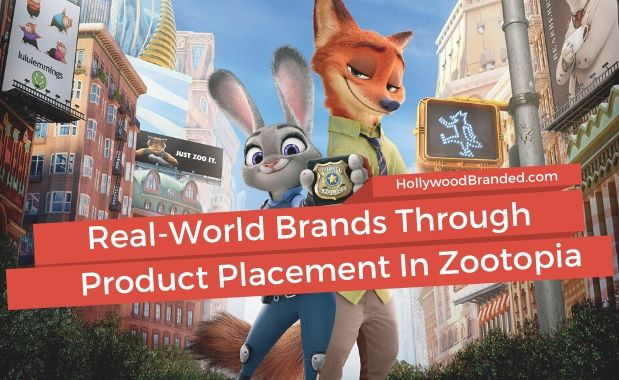 Real world brands through product placement in Zootopia