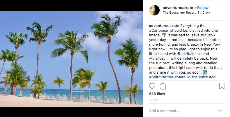 Adventurous Kate Instagram Post