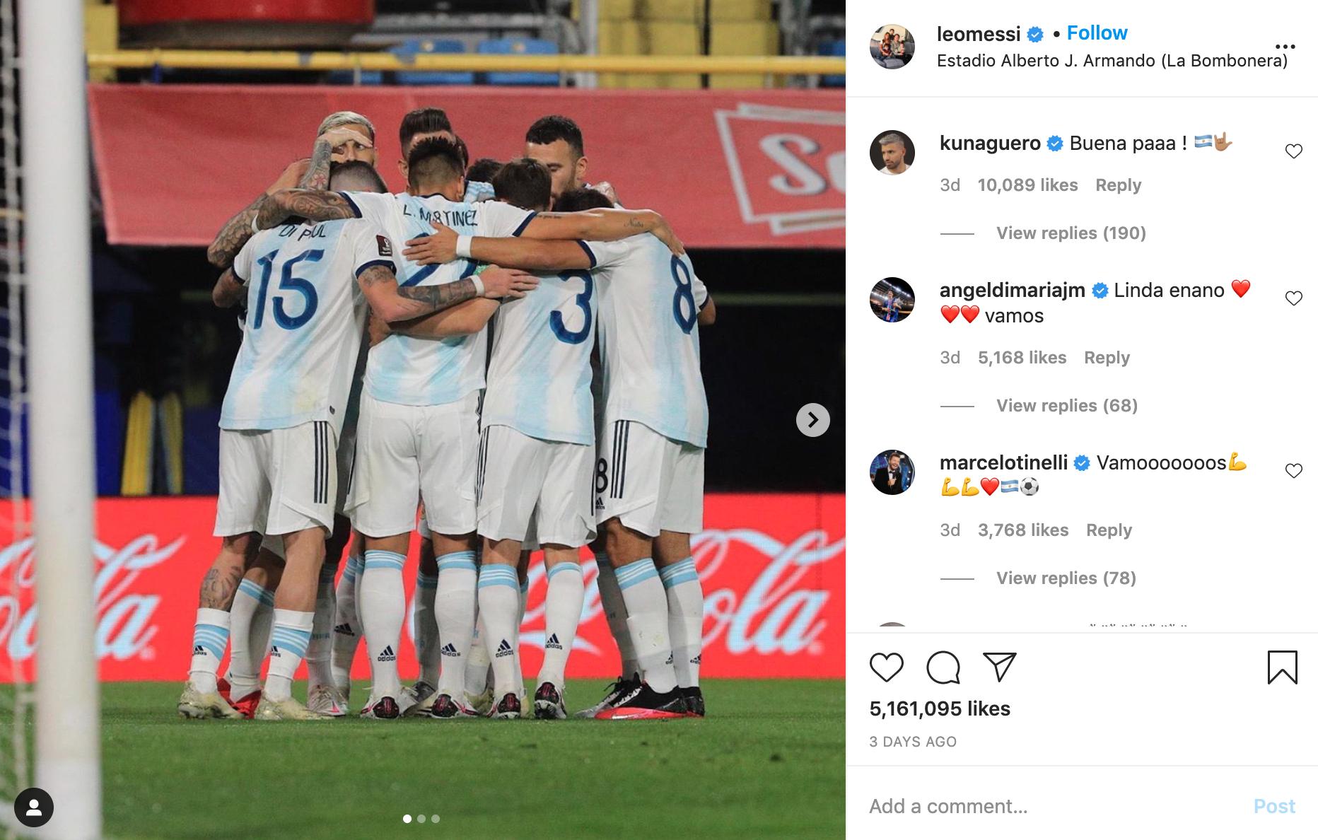 Lionel Messi instagram