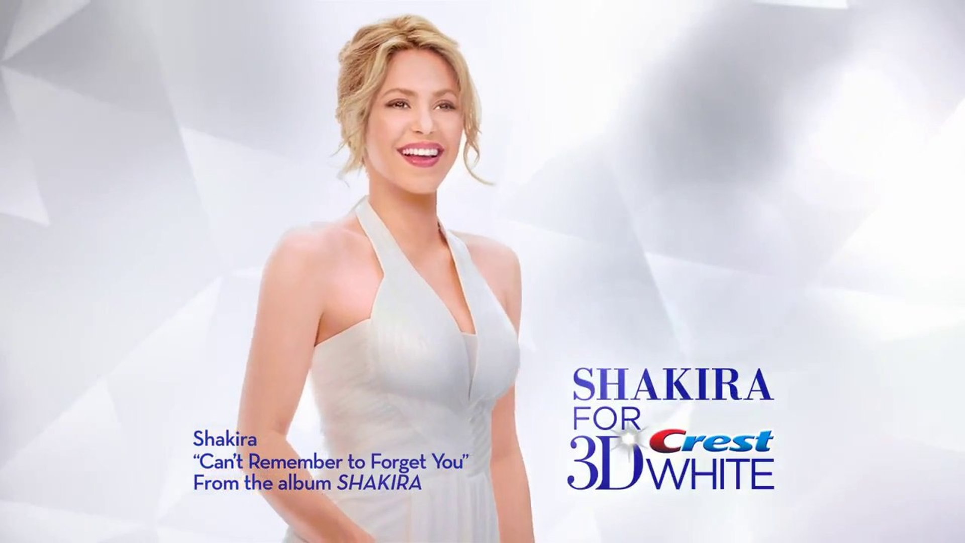 Shakira Crest 3D Brilliance white strips and toothpaste partnership