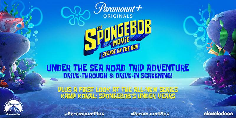 Spongebob Movie Drive-Through Poster