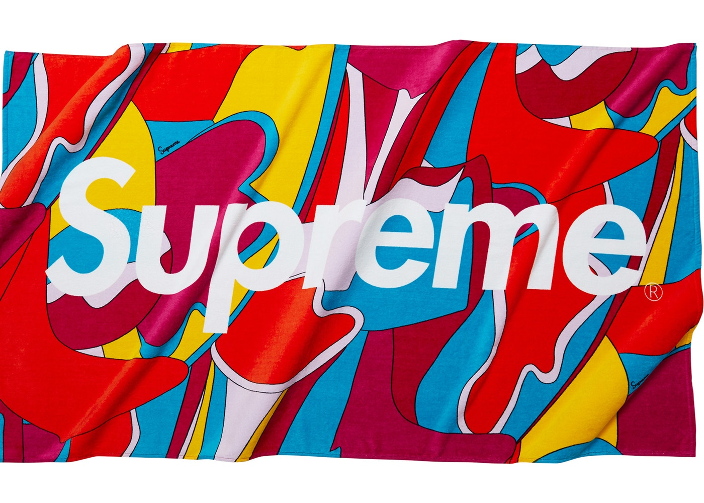 Supreme-Abstract-Beach-Towel-Red