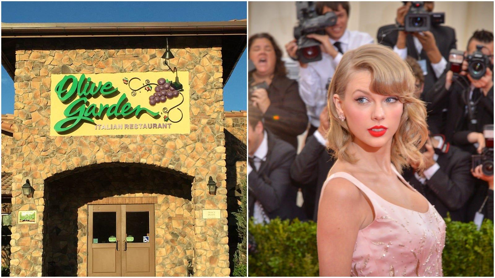 Taylor Swift Olive Garden