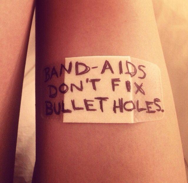 band aids dont fix bullet holes - taylor swift bad blood instagram promotion