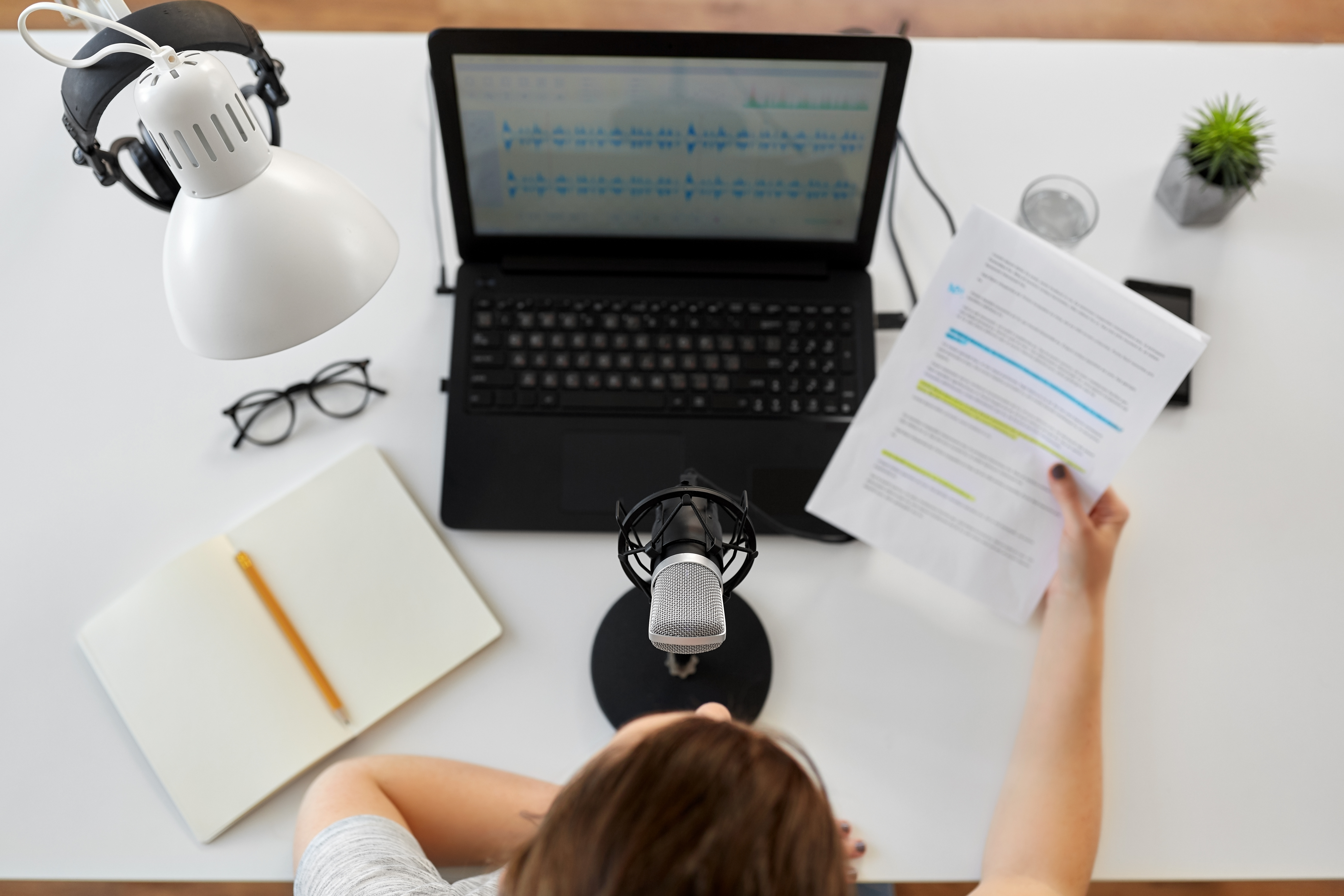 Podcast partnership scripted ad recording