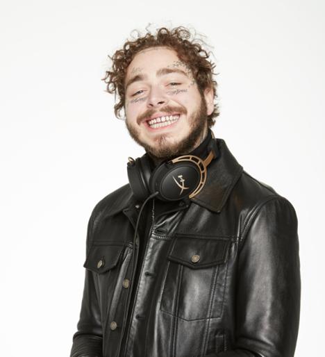 Post Malone HyperX gaming headphones