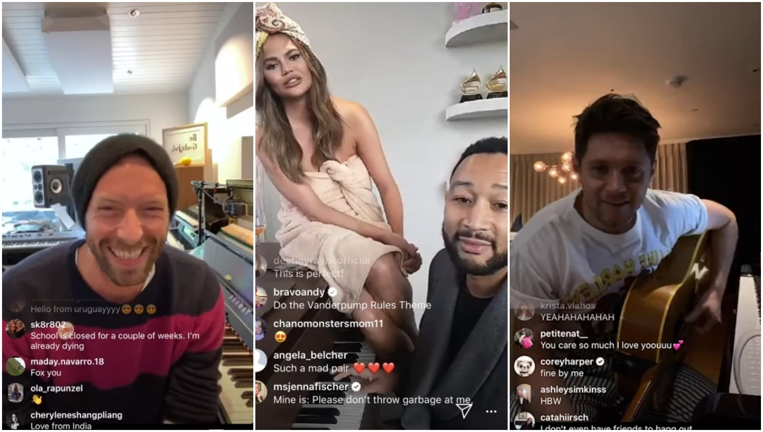 Artists like Chris Martin, John Legend, and Niall Horan are connecting with fans by doing live-streamed concerts through Instagram Live during the COVID-19 shutdown