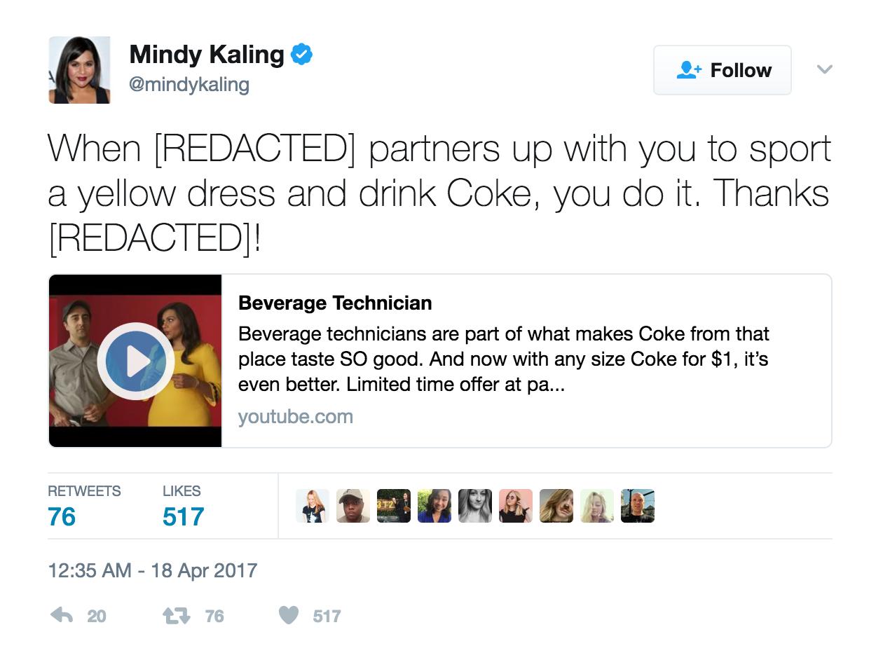 mindy kaling mcdonalds tweet.png