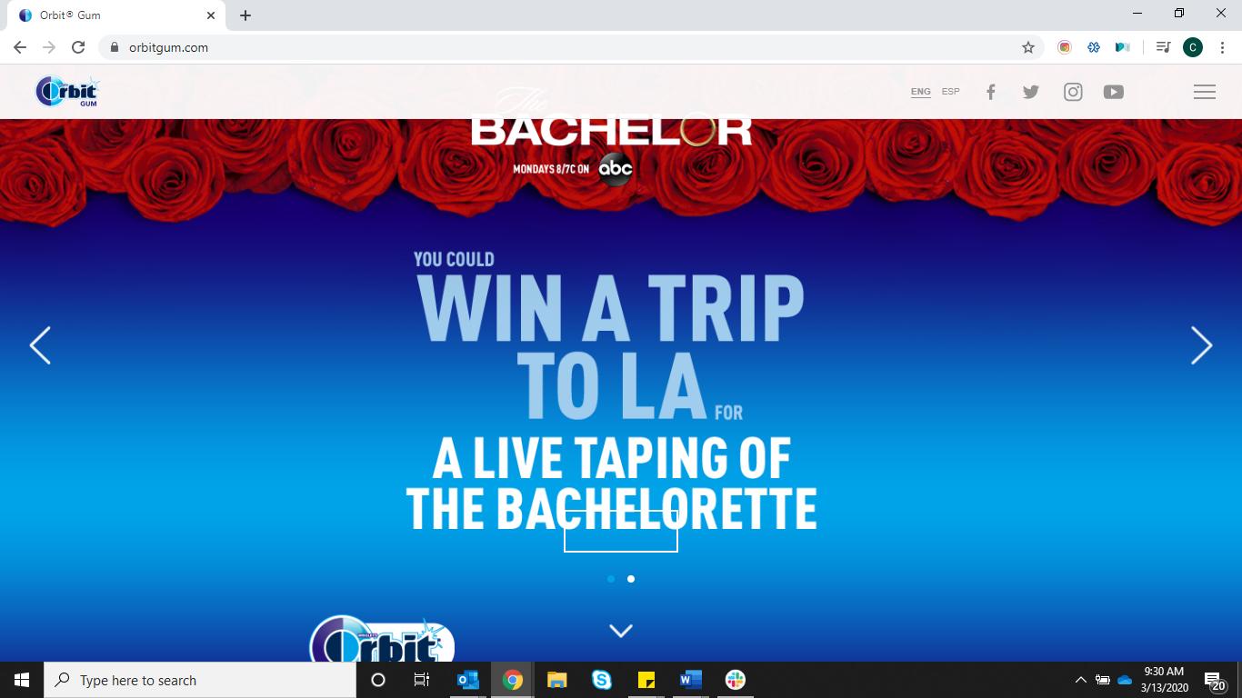 Bachelor Orbit partnership