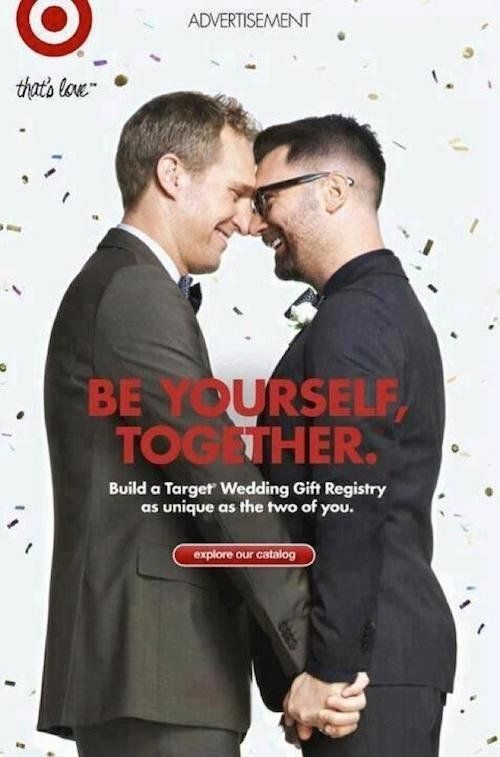 target gay couple ad