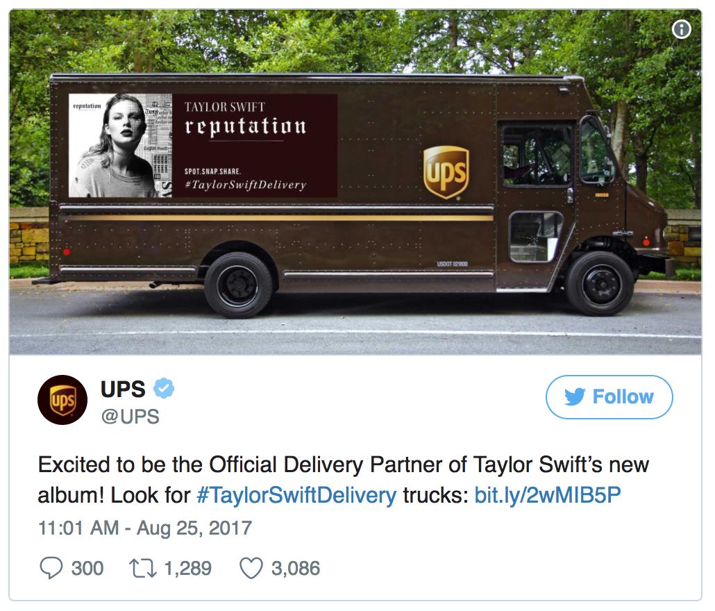 taylor swift UPS truck tweet.png