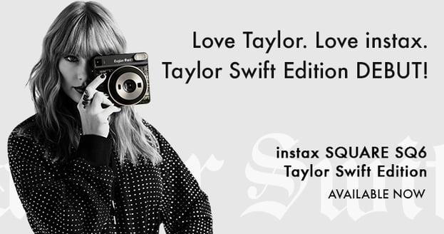 taylor swift polaroid instax partnership