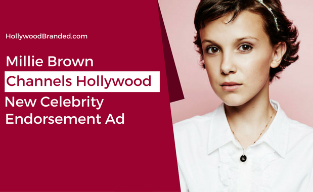 New Celebrity Endorsement Ad: Millie Bobby Brown Channels Old Hollywood
